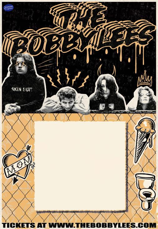 The Bobby Lees Poster Artwork_Orange Blank wLOGO_Blank